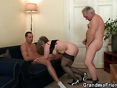 She takes 2 cocks at once after masturbation