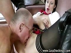 Mature schoolgirl pussy screw