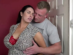 Booty busty mommy suck and fuck lucky son