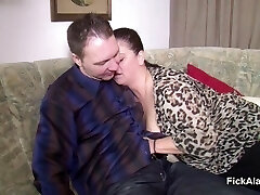 Mother Seduce Step-Son to Fuck her