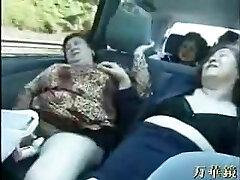BBW Jap Grannies on a Tour Bus