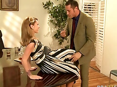 Big tit taut agent cowgirl wears no panties at soiree and finds a