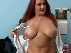Mature Redhead with Immense Boobs gets Scammed by Doctor
