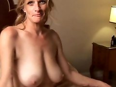 Bitchy older babe is a supah hot fuck and loves facials