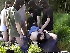 My wife gangbanged by 10 fellows at highway rest area