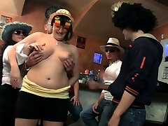 Fat tits party in the bbw bar