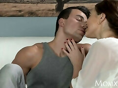MOM Boy pokes older housewife in the ass