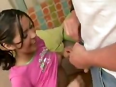 Babysitter penetrates dad while mom is at work