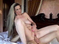 Mature Conchita WIth Younger Stud