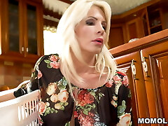 Blonde Stepmom Can't Discipline Her Horny Sonnie