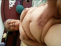 Asian Chubby Grandmother
