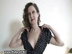 Erotic senior lady in sexy lingerie loves part4