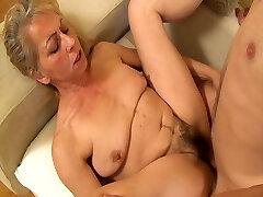 Horny grandmom seduced by her stepson