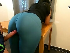 Step Mom teases, rubs because she just wants to be pummeled by her Step Son again, luvs cock too much