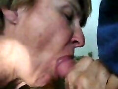 An incredible swallowing of stud's cock from awesome granny