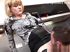 Female Dominance granny ties her man up before letting him fuck her