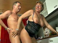 Anita - Petra Wegat kitchen piss play