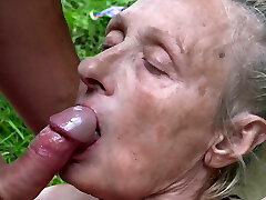 Grandmother seduced by young nudist