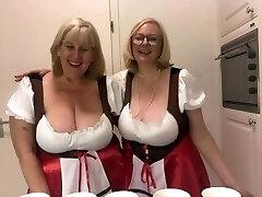 Oktoberfest - 2 big-boobed topless blondes