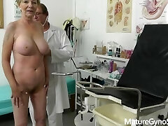 Fake doctor secretly records obgyn exam of good looking granny with big fun bags