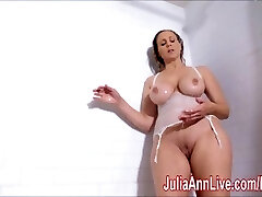 Fantastic Milf Julia Ann Lathers Her Yam-sized Tits in Shower!