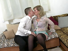 Taboo home lovemaking with real mature mother Mirka