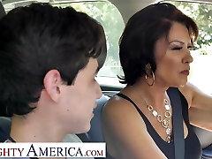 Insane America Mrs. Fuller (Vanessa Videl) teaches Juan how