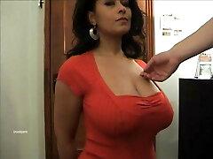 Big tits Danica Collins as her tits massaged.