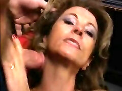 Mature German nymph gangbanged