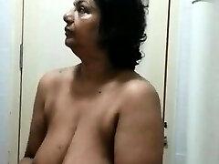 Hidden webcam in bedroom caught my mum masturbating
