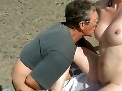Bare Beach - Shy Wife Plays with Strangers