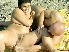 Grannie gets torn up at the beach