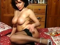 Scorching Brunette Busty Milf Teasing in various garments V SEXY!