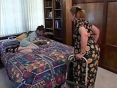Aged black-haired hair indulges in hawt fellatio sex