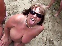 Nude Beach - Matures Bukake Soiree