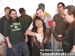 Susie's Gang Bang Bukkake Party for Tampa Bukkake