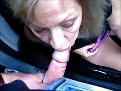 Pretty Mature Wife Sucks Cock Thru Van Window
