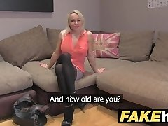 Fake Agent UK Uber-cute horny MILF with shaven pussy fucking