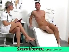 CFNM penis medical exam with glorious Czech MILF doctor Beate