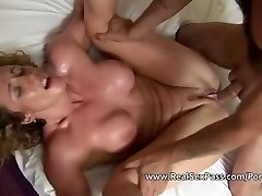 Compilation of shaved first-timer matures being pussy and bum fucked hard
