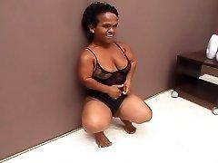 Black Brazilian Mature Midget Humped Great