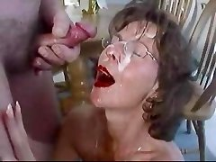 Mature black-haired in glasses nourish. Fran from 1fuckdate.com