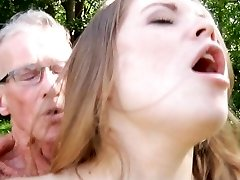 Giant old boner smashes nice a very young sweet doll