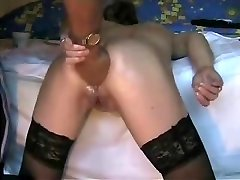Deep backside going knuckle deep my horny bitch. Amateur extreme