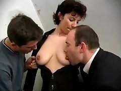 French mature getting Two hard-ons