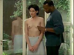 Dark-haired white woman with black lover - Erotic Interracial