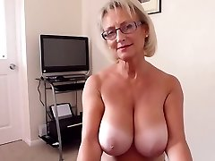 Brit big natural titties mature hot blowjob