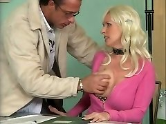 Busty German Mature Plowing in Office