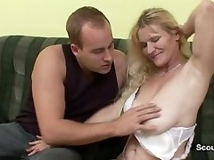Mom get caught by german step-son and screwed her hairy fuck hole