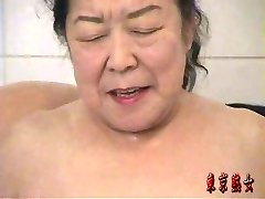Chinese granny enjoying bang-out